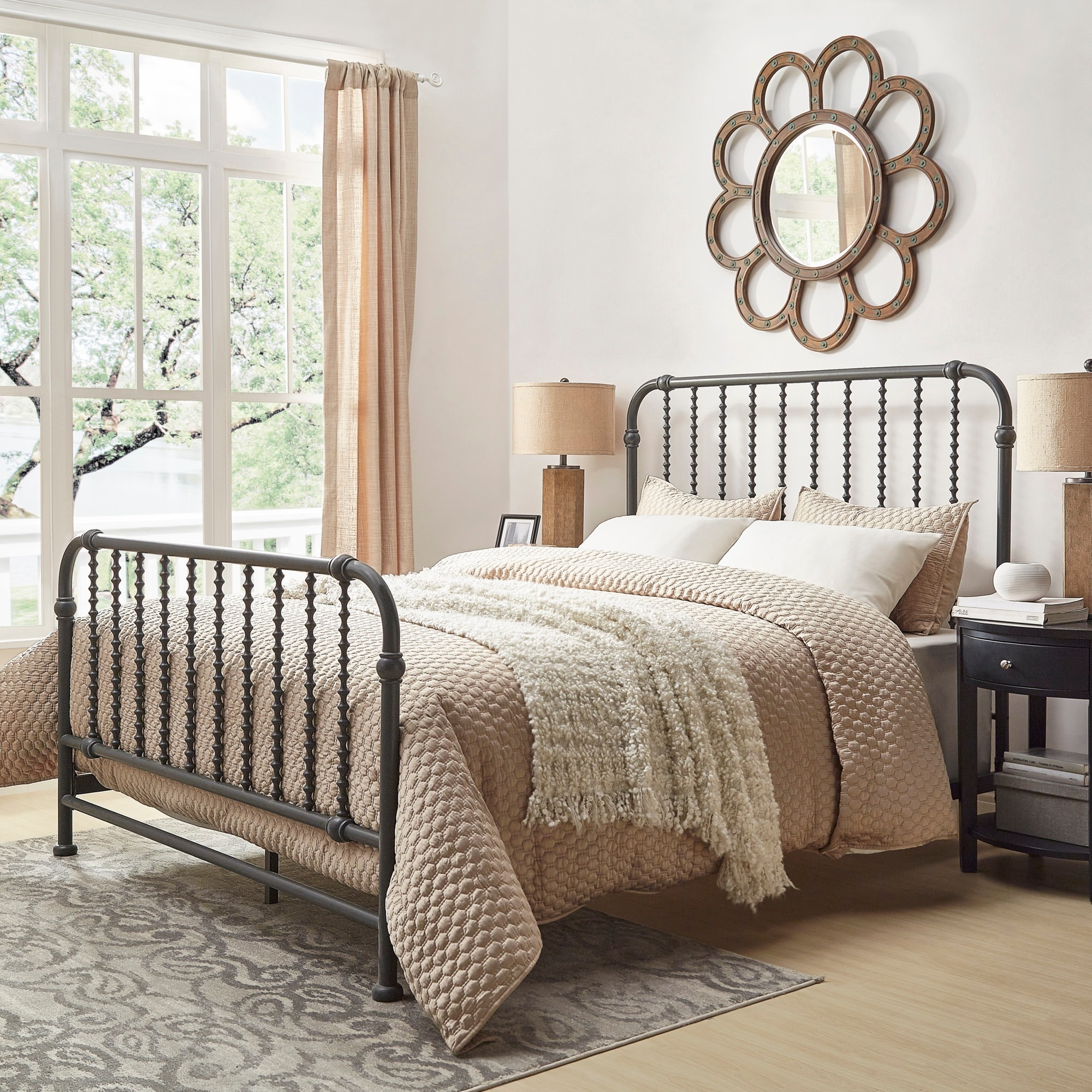 Gulliver Vintage Antique Spiral Full Iron Metal Bed By Inspire Q Bold Overstock 12447384
