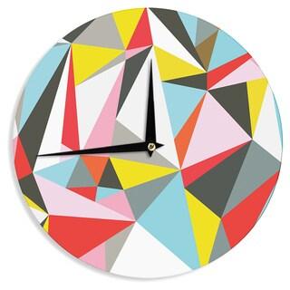 KESS InHouseFimbis 'Mosaik' Multicolor Geometric Wall Clock