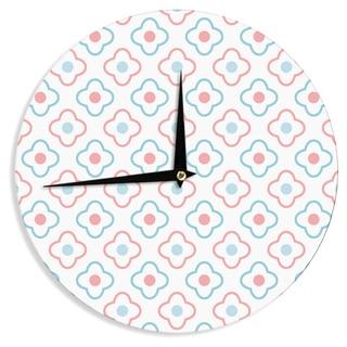 KESS InHouse KESS Original 'Baby Moroccan' Blue Pink Wall Clock