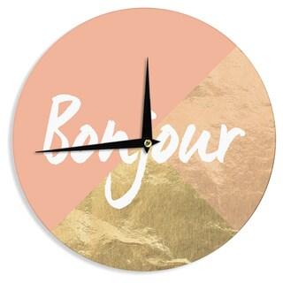 KESS InHouse KESS Original 'Bonjour Gold' Metallic Wall Clock