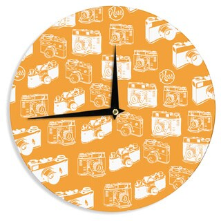 KESS InHouse KESS Original 'Camera Pattern' KESS Orange Wall Clock