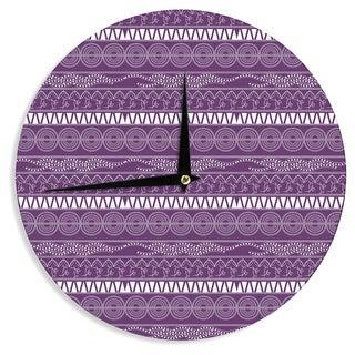 KESS InHouseFamenxt 'Pattern Purple' Lavender Abstract Wall Clock