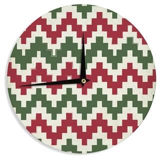 KESS InHouse KESS Original 'Christmas Gram' Chevron Wall Clock