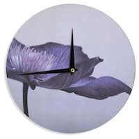 KESS InHouseIris Lehnhardt 'Indigo' Purple Sky Wall Clock