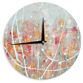 KESS InHouseIris Lehnhardt 'Joy' Splatter Paint Wall Clock