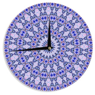 KESS InHouseIris Lehnhardt 'Kaleidoscope Blue' Circle Blue Wall Clock