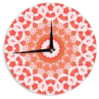 KESS InHouseIris Lehnhardt 'Mandala I' Red Orange Wall Clock