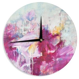 KESS InHouseIris Lehnhardt 'Magenta' Pink Paint Wall Clock