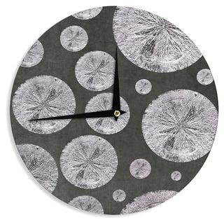 KESS InHouseIris Lehnhardt 'Pyrite' Black Grey Wall Clock