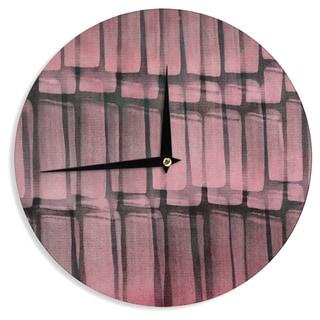 KESS InHouseIris Lehnhardt 'Reddish' Pink Wall Clock