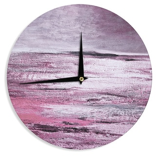KESS InHouseIris Lehnhardt 'Sea' Pink Wall Clock