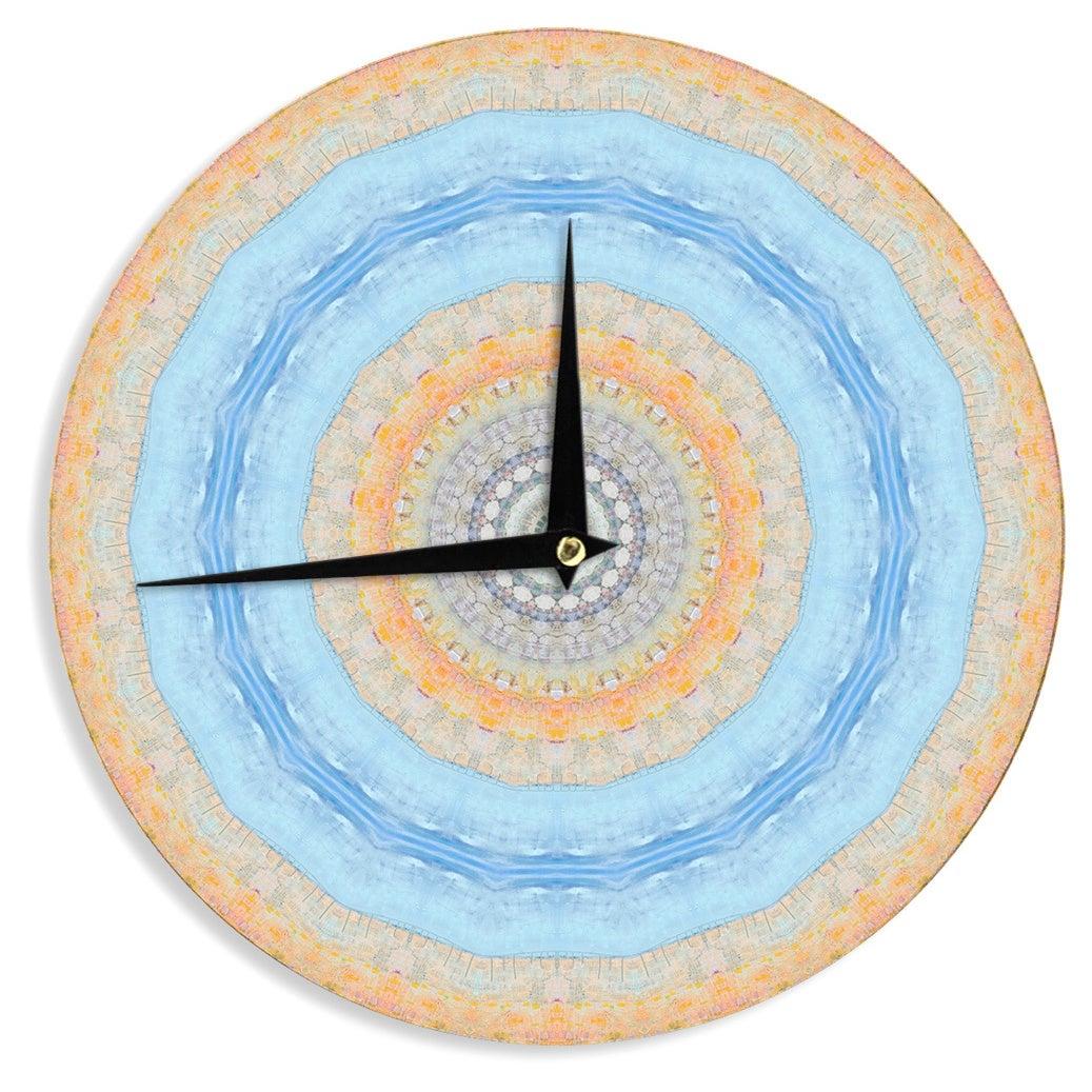 KESS InHouseIris Lehnhardt Summer Mandala Circle Orange Blue Wall Clock (Summer Mandala)