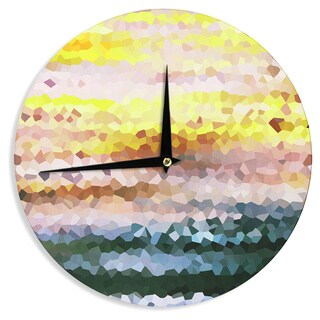 KESS InHouseIris Lehnhardt 'Turaluraluraluuu' Pixel Wall Clock