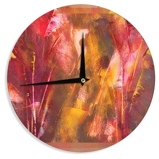 KESS InHouse Malia Shields 'Warmth' Orange Red Wall Clock