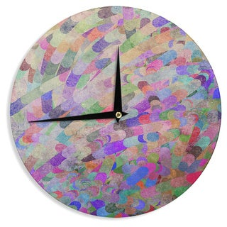 KESS InHouse Marianna Tankelevich 'Abstract' Rainbow Wall Clock