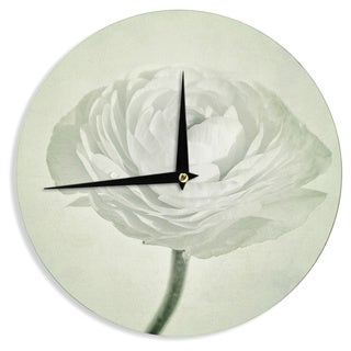 KESS InHouseIris Lehnhardt 'Whity' Gray Floral Wall Clock