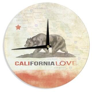 KESS InHouseiRuz33 'Cali Love' Wall Clock