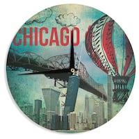 KESS InHouseiRuz33 'Chicago' Wall Clock