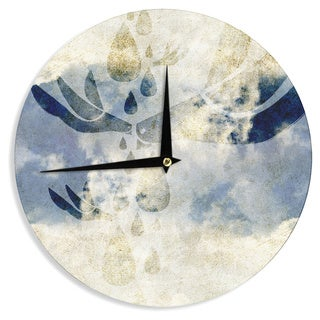 KESS InHouseiRuz33 'Doves Cry' Wall Clock