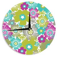 KESS InHouse Nicole Ketchum 'Little Bloom' Wall Clock