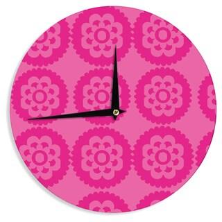 KESS InHouse Nicole Ketchum 'Moroccan Hot Pink' Wall Clock