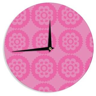 KESS InHouse Nicole Ketchum 'Moroccan Pink' Wall Clock