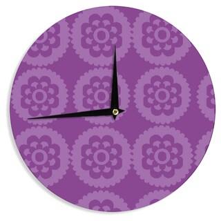 KESS InHouse Nicole Ketchum 'Moroccan Purple' Wall Clock