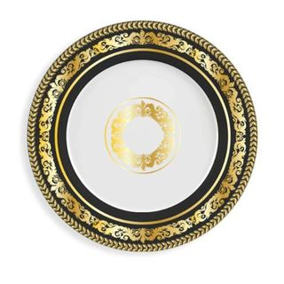 Lionel Richie Home Versailles Salad Plate Black (Set of 6)