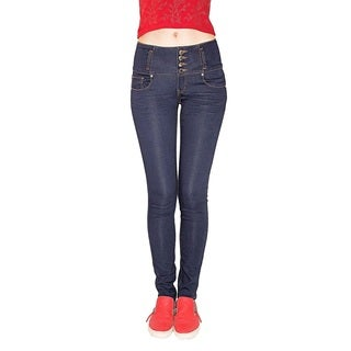 Juniors' Butt Lifter Blue Cotton/Denim/Spandex Skinny Super-soft Stretch Jeans
