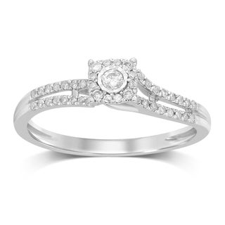 Unending Love 10K White Gold 1 5 Ctw Diamond Square Top Engagement Ring