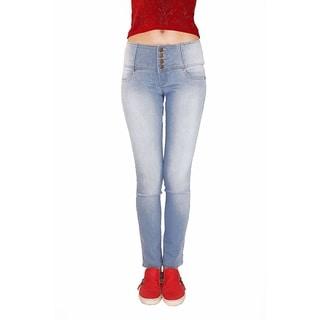 Juniors' Butt Lifter Light Blue Cotton/Denim/Spandex Strecth Skinny Jeans