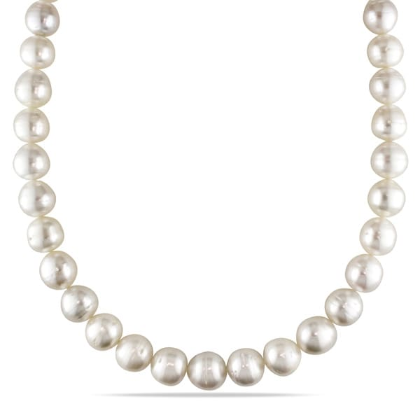 gorgeous 13-14mm south sea baroque multicolor pearl necklace 36inch 14k