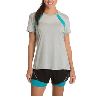 Lotto Women's Marathon Grey Polyester Short-sleeved T-shirt