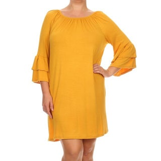 Plus Size Women's Solid Dress