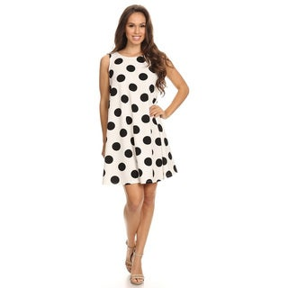Women's Polka Dot Sleeveless Dress