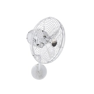 Mathews Fan Company Michelle Parede Polished Chrome Metal 3-blade Directional Wall Fan - Silver