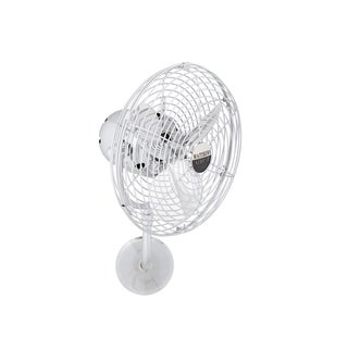 Mathews Fan Company Michelle Parede Polished Chrome Metal 3-blade Directional Wall Fan