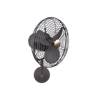 Mathews Fan Company Michelle Parede Bronze Metal Directional 3-blade Wall Fan - Brown