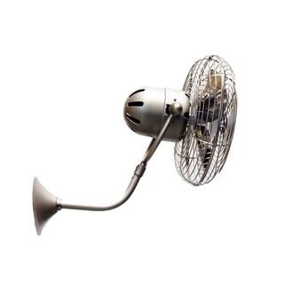 Mathews Fan Company Michelle Parede Brushed Nickel Directional Wall Fan - Silver