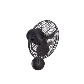 Mathews Fan Company Michelle Parede Matte Black Directional Wall Fan