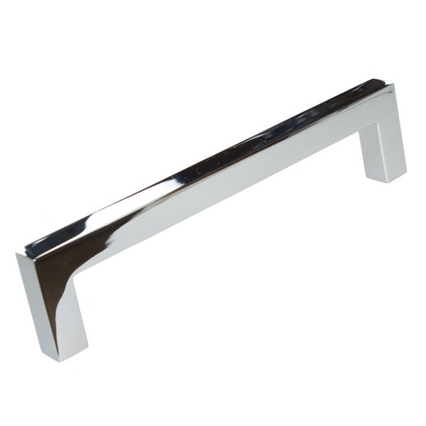 Gliderite 5 Inch CC Solid Square Cabinet Bar Pull Handle Polished Chrome  (Pack Of