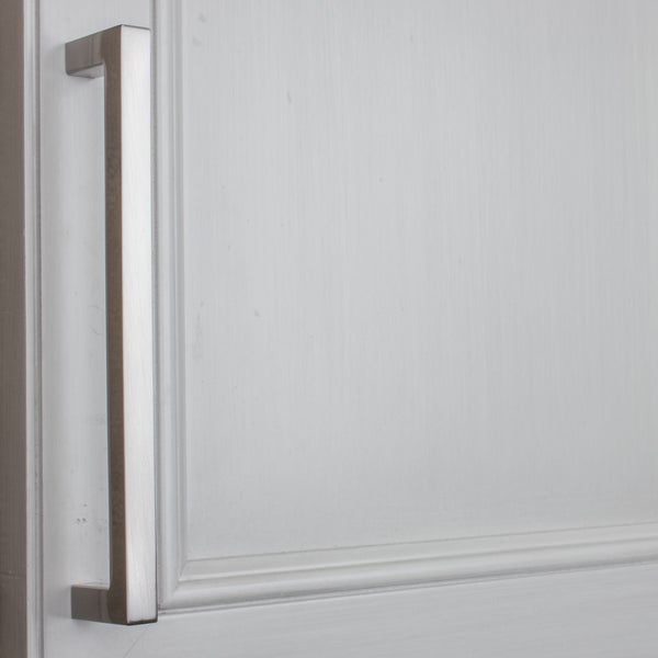 gliderite 625inch cc solid square cabinet bar pull handle satin nickel pack of 10 or 25 free shipping on orders over 45