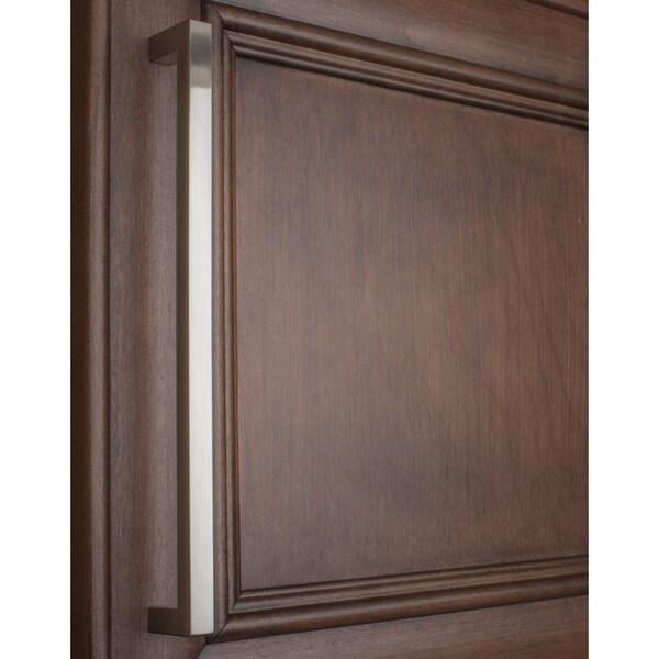 Gliderite 8.75-inch CC Solid Square Cabinet Bar Pull Handle Satin ...