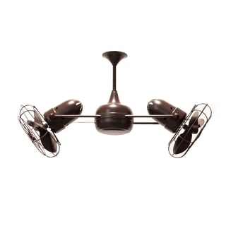 Mathews Fan Company Duplo Dinamico Bronzette 5-blade Rotational Ceiling Fan