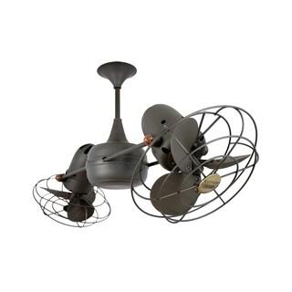 Mathews Fan Company Duplo Dinamico Bronze Metal Rotational Ceiling Fan