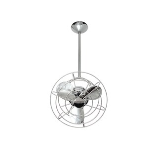 Mathews Fan Company Bianca Direcional Polished Chrome Ceiling Fan - Silver