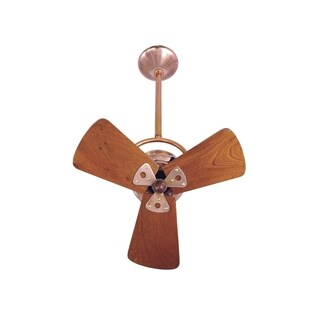 Mathews Fan Company Bianca Direcional Copper/Mahogany Steel/Wood Ceiling Fan - Brown