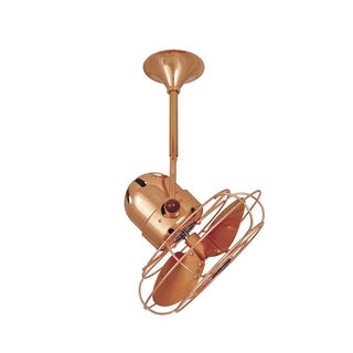 Mathews Fan Company Bianca Direcional Polished Copper-finished Stainless Steel Ceiling Fan - Brown
