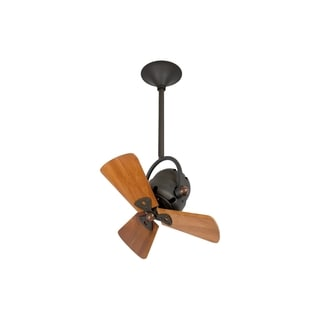 Mathews Fan Company Bianca Directional Bronze Ceiling Fan with Mahogany Blades