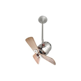 Mathews Fan Company Bianca Direcional Brushed Nickel Ceiling Fan with 3 Mahogany Blades - Silver
